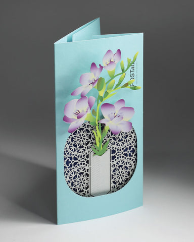 POSTalk Freesia POP-UP Greeting Card (Fleuriste Series) (FGC-12) - POSTalk