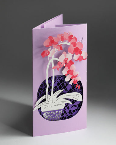 POSTalk Orchid POP-UP Greeting Card (Fleuriste Series) (FGC-13) - POSTalk
