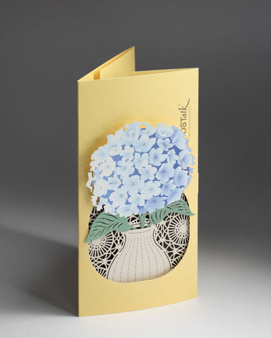 Hydrangea POP-UP Greeting Card - Fleuriste Series - POSTalk