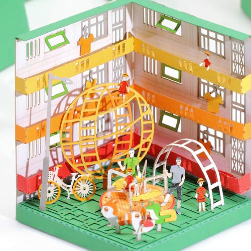Playground - FingerART Paper Art Model with Plastic Box (HK-5816) - POSTalk