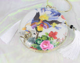3D Lifelike Handmade Phoenix Birds Su Embroidery Chinese Handiwork Case Handbag with PVC Layer Dust-free For Key Purse Card Wallet
