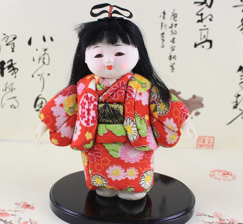 22cm Handmade Doll Japanese Cute Girl Figurine Hina gofun Art Ichimatsu Collectibles High Appreciation Value …