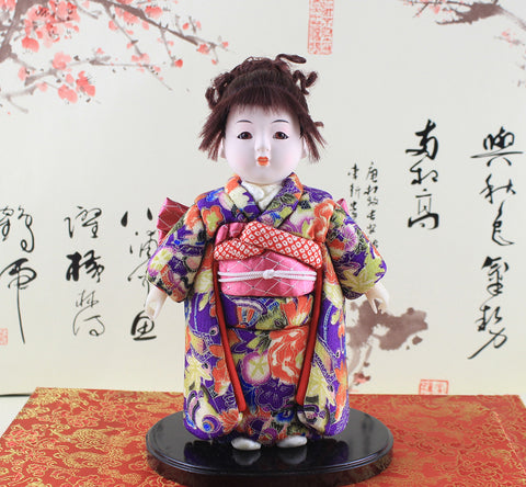 24cm Handmade Doll Japanese hinamatsuri gofun Ichimatsu Collectibles House Car Interior Decor