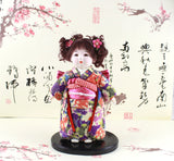 24cm Handmade Cute Girl Asian Doll Japanese Figurine Statue Hinamatsuri gofun Art Asian Ichimatsu Collectibles High Appreciation Collection Value