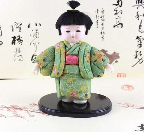 22cm Handmade Exquisite Doll Japanese Cute Boy Figurine Statue Hina gofun Art Ichimatsu Collectibles