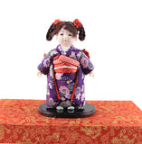 24cm Handmade Doll Japanese Hina gofun Art Ichimatsu Doll Figurine Collectibles for Birthday House Office Decor