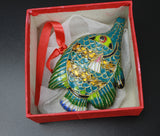 Antique 1970s Exlusive Chinese Handmade Enamel Cloisonne Sea Fish Collectibles