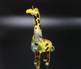 Antique 1970s Chinese Handmade Enamel Cloisonne Giraffe Figurine Collectible