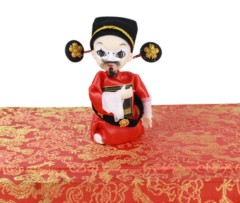 Chinese Officer of Song Dynasty Q Version Mini Peking Opera Doll
