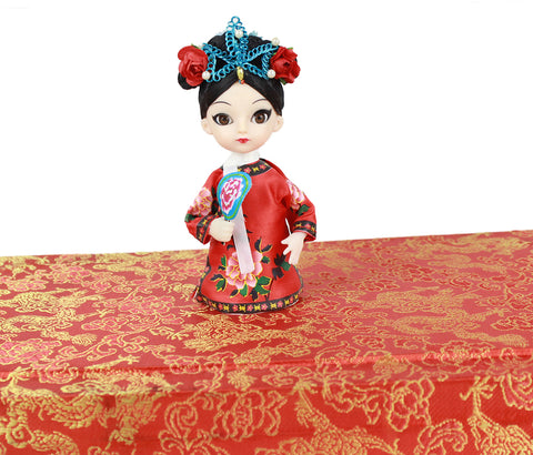 Ancient Chinese Princess of Qing Dynasty Q Version Mini Peking Opera Doll Gift