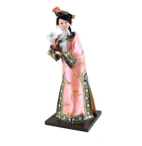 "12""/11.98'' Tall Handmade Exquisite Princess Doll of Qing Dynasty Ancient Chinese Girl Lady Dollhouse Asian Beauty House Decor"