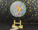 3D Lifelike Butterfly Embroidery Stitchwork Chinese Decorative Silk Hand Fan Gifts