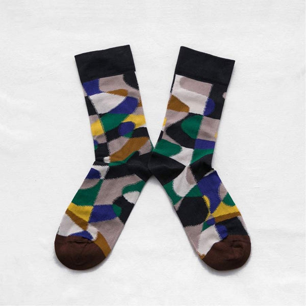 Bonne Maison Socks with puzzle pattern size 39/41
