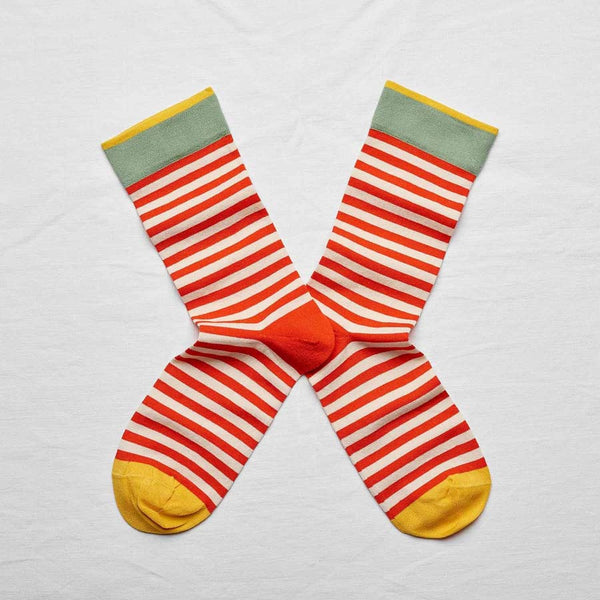 Bonne Maison Socks with stripes in red and white size 39/41