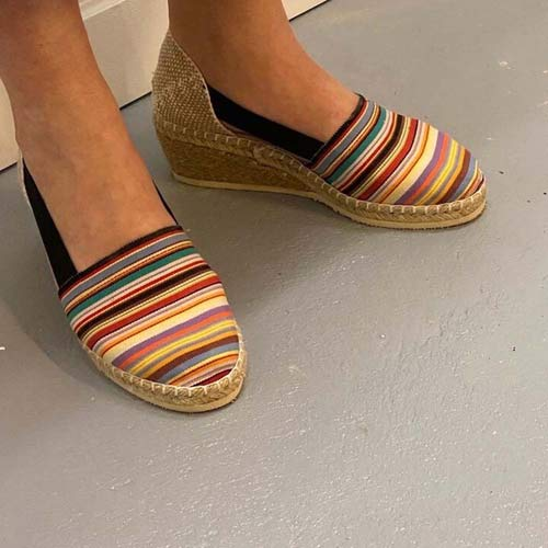 Espadrilles shoes from spain - Multicolor stripes - M. Elastic