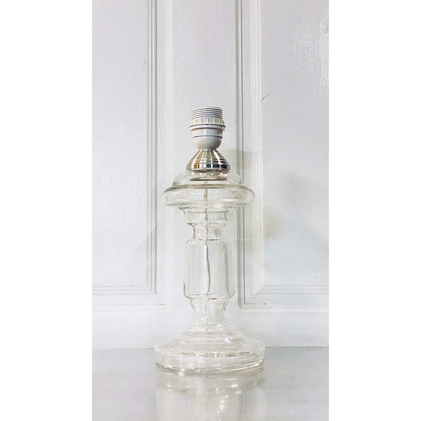 Glass Lamp Base Clear
