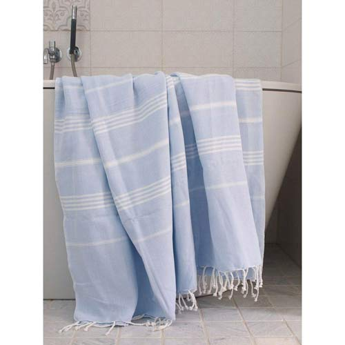 Hammam Towel Seagreen with Stripes 160x220