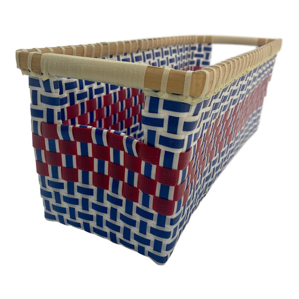 Basket for storage in blue and red - Rectangular