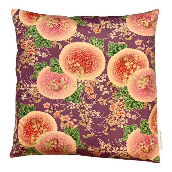 Japan Cushion - Chrysanthemum Purple & Peach 40x40