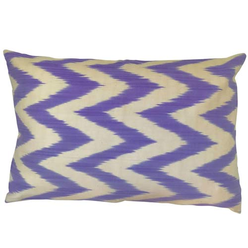 Ikat Cushion Lavender and Ecru 50x30