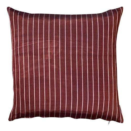 Istanbul Cushion - Brown and Silver Stripes - 50x50