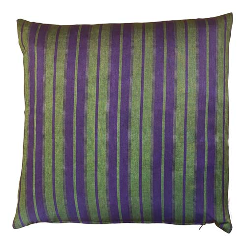 Istanbul Cushion - Green & Purple Stripes 50x50