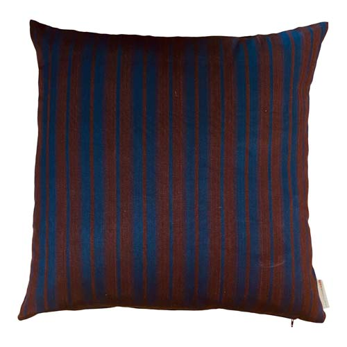 Istanbul Cushion Midnight Blue & Brown Stripes - 50x50