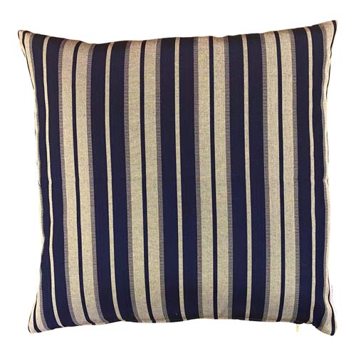 Istanbul Cushion Midnight Blue & Silver Stripes 50x50