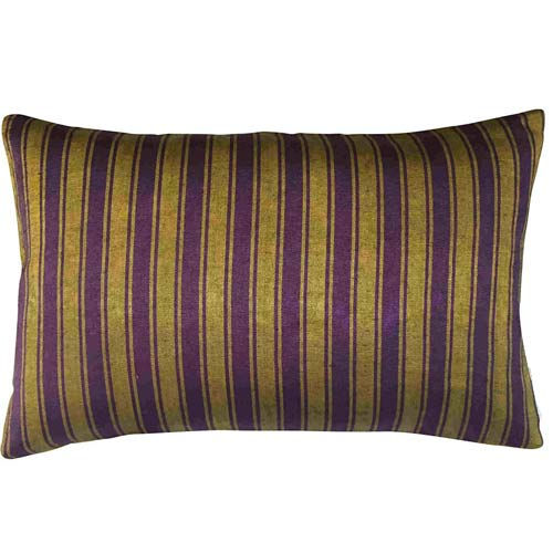 Istanbul Cushion Umbra & Purple stripes 50x30