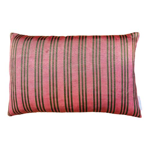Istanbul Cushion Old Rose & Green Stripes 50x30