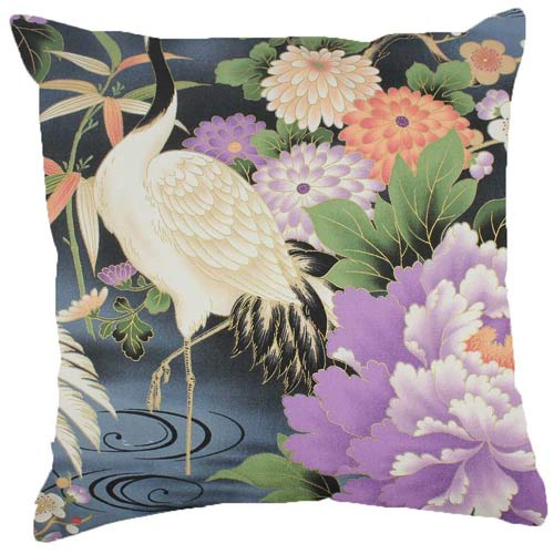 Japan Cushion Crane with Blue & Purple 40x40