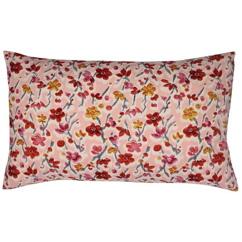Japan Cushion Wildflower & Berries Pink 50x30