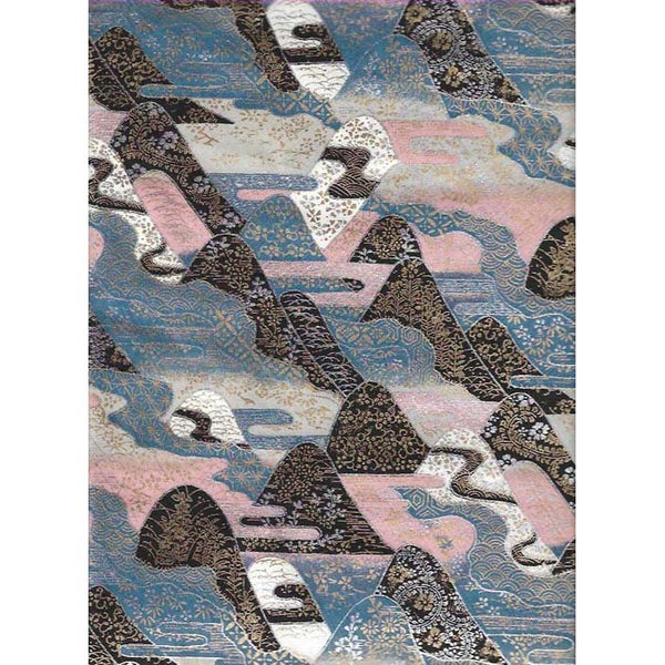 Japan Papir -  Abstract mountains Silver, Pink & Blue