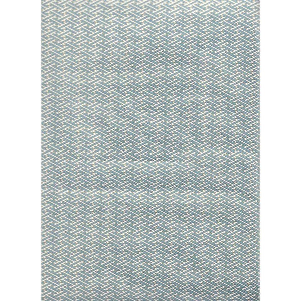 Japan paper-Blue gray graphic pattern , with Golden rim