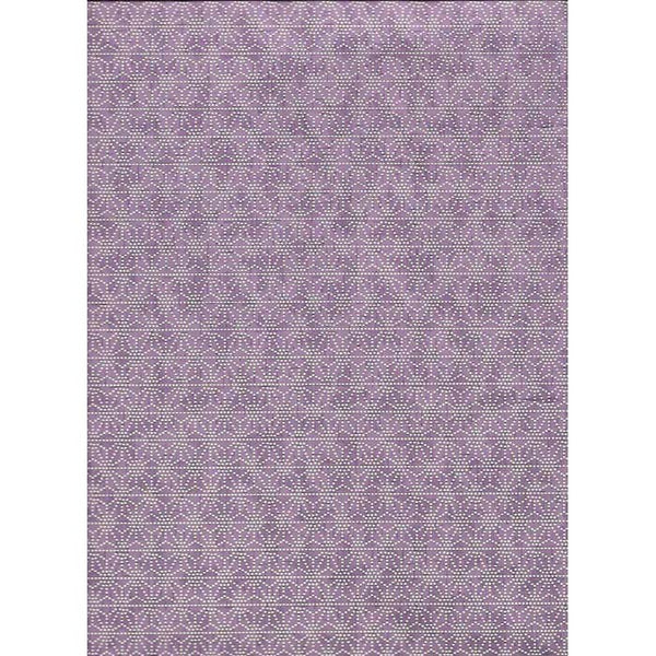 Japan Papir -  Purple & White graphic Star pattern