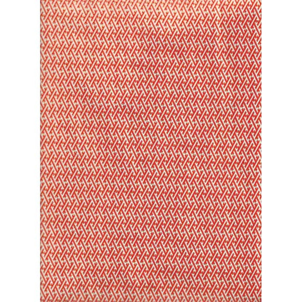 Japan Paper - Red graphic pattern , with Golden rim