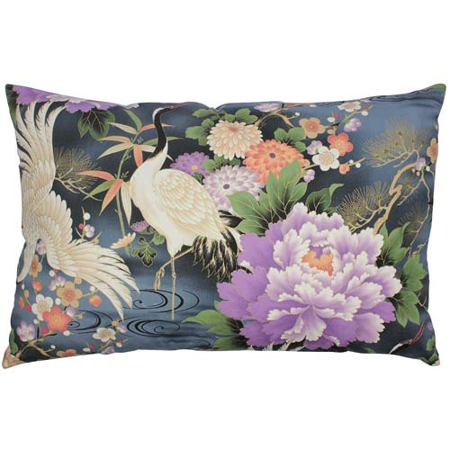 Japan Cushion Crane with Blue & Purple 40x60