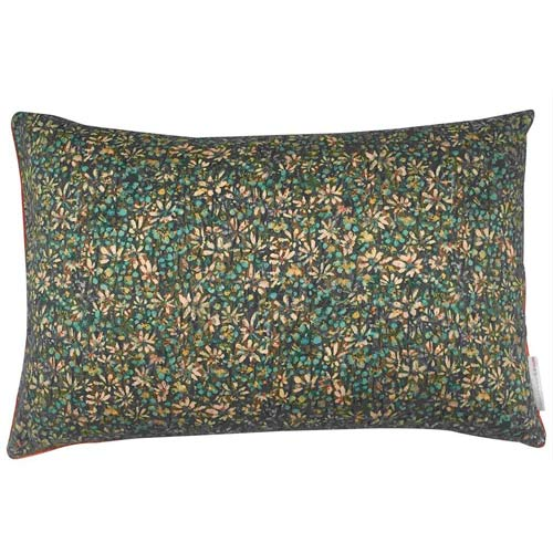 Liberty Cushion Daisy Turquoise Green 50x30 cm