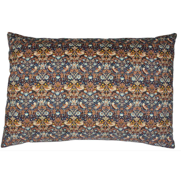 Liberty Pude Strawberry Thief Copper & Dark Blue 50x30 - Grønlykke.com
