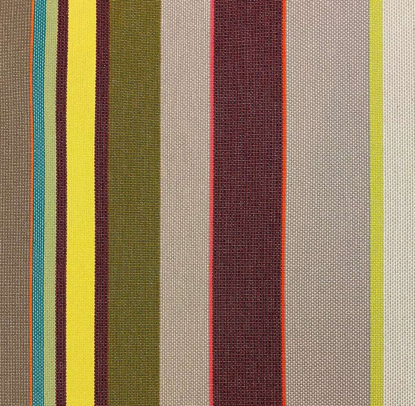Awning Fabric with stripes gray, green, yellow & burgundy - 180 cm wide