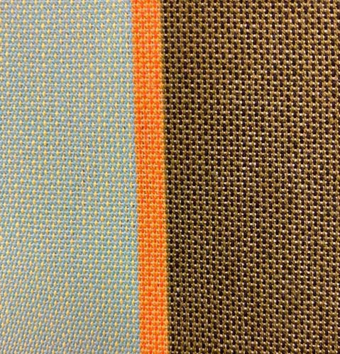 Awning Fabric with stripes Green, Orange, Blue & Brown - 180 cm wide