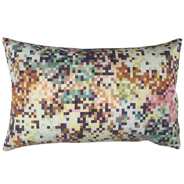 Missoni Pude Pixel Aqua and Copper 50x30 - Grønlykke.com