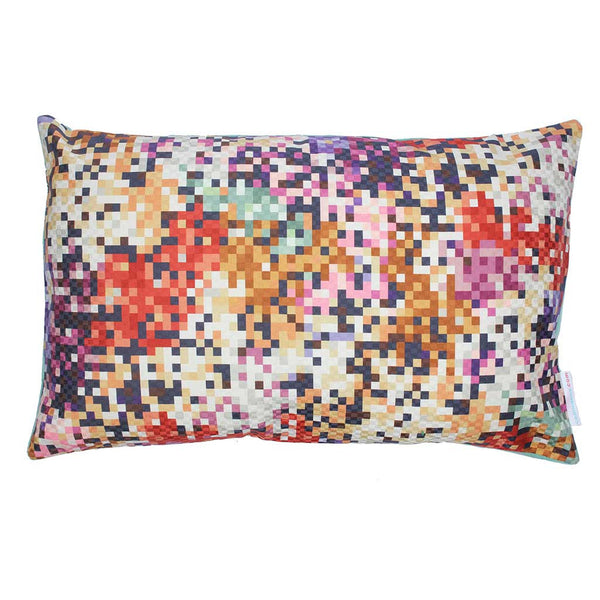 Missoni Pude Pixel Purple and Copper 50x30 - Grønlykke.com