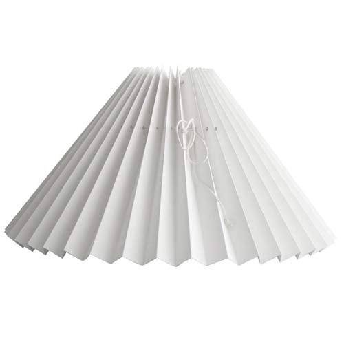 Pleated White Lampshade