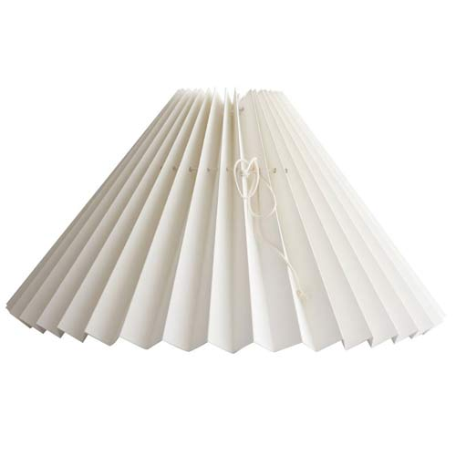 Pleated Lampshade - Off White
