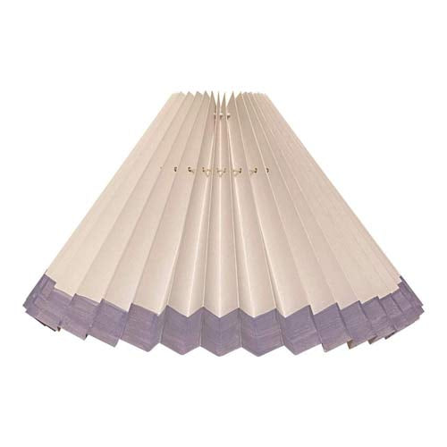 Pleated lampshade - White with Lavender edge