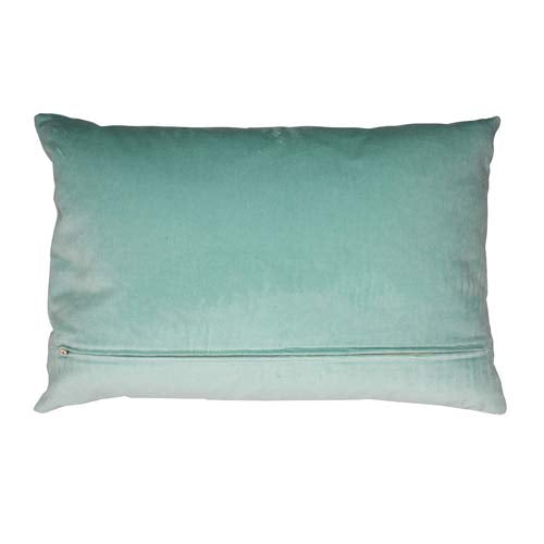 Japan Cushion Flowers on Creme & Turquoise 50x30