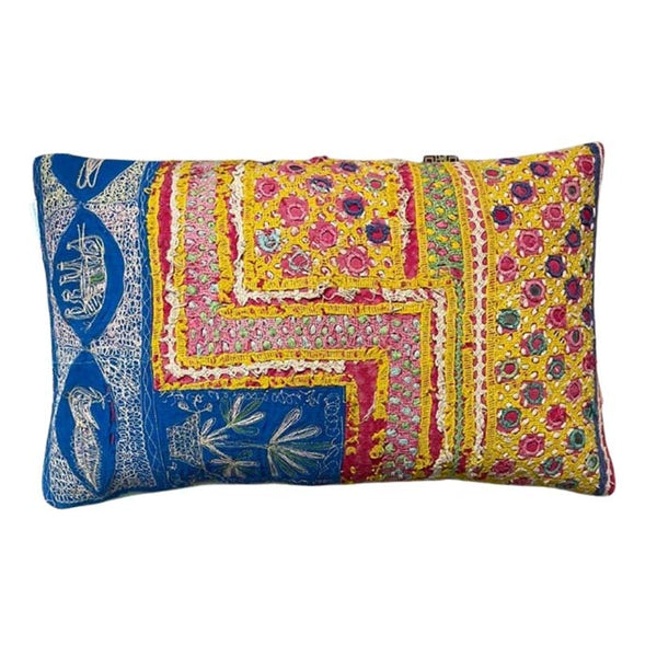 Unika Gudri pillow embroidered Multi colored - 50x30 cm