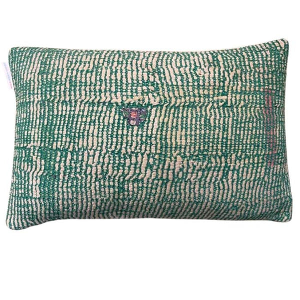 Sari Gudri cushion in Green 50x30 cm