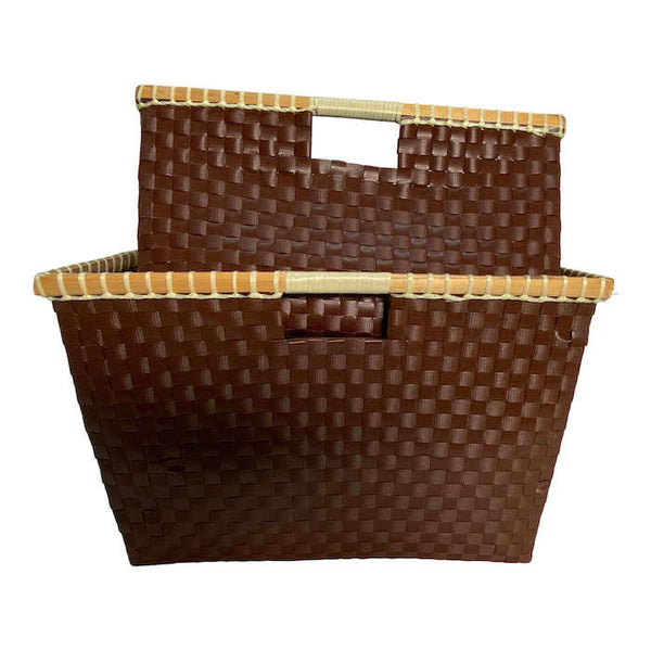 Basket for storage in Brown - Square